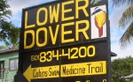 Lower Dover Road Sign on the Western Highway