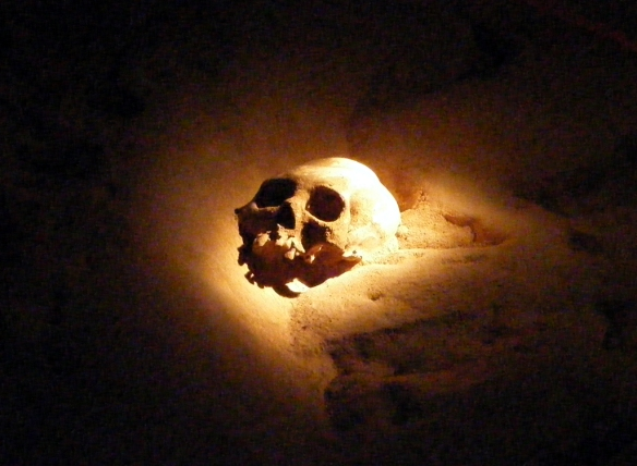 Mayan Skull in ATM Cave - Cayo, District - Belize