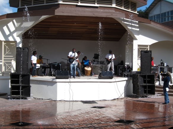 Local Band playing in the new Amphitheater.